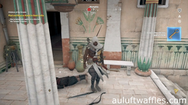 Find and Rescue Kawit Gaia's Villa Children of the Streets Assassin's Creed: Origins
