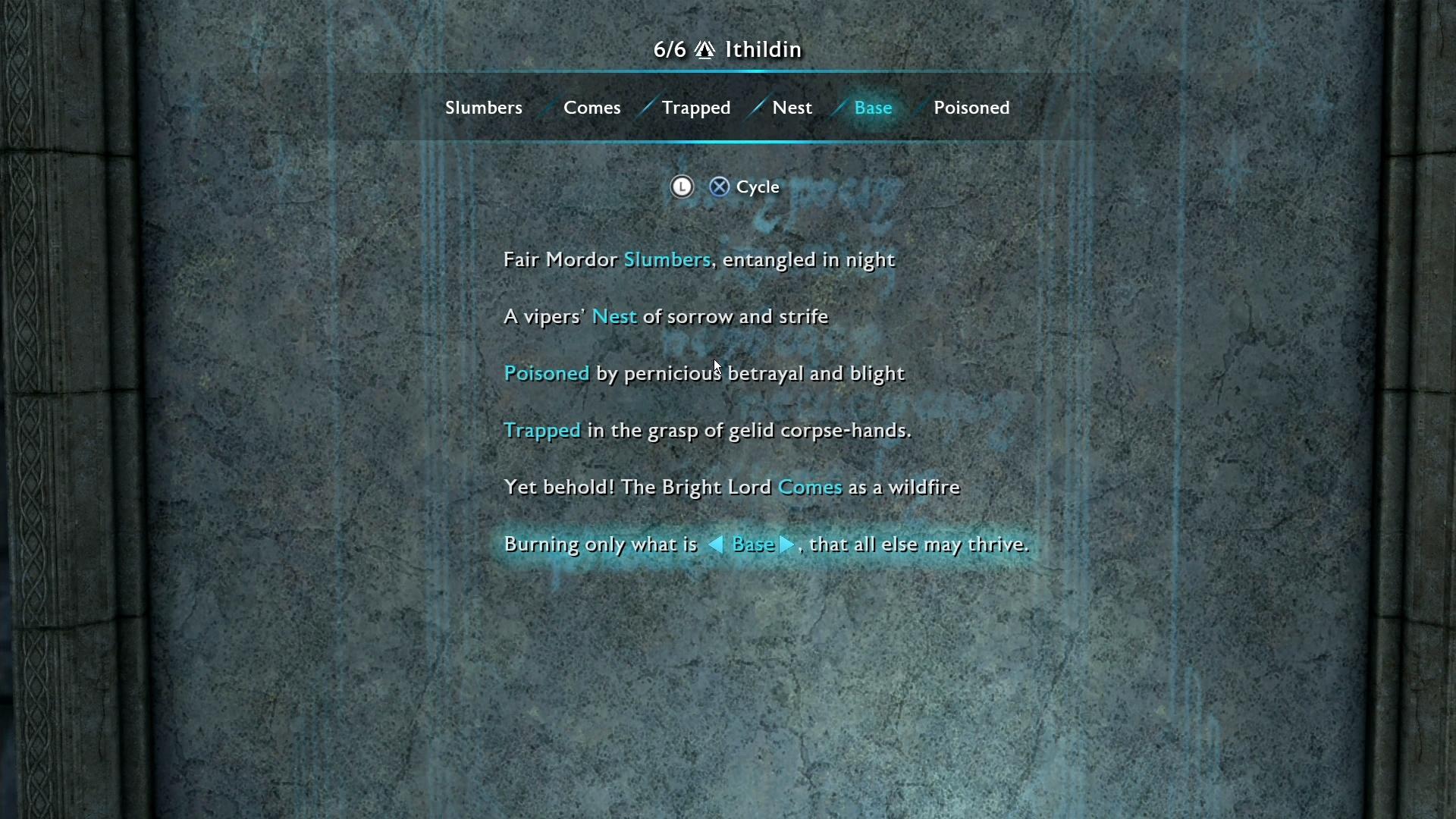 Restore Poem Seregost Ithildin Door Middle Earth Shadow Of