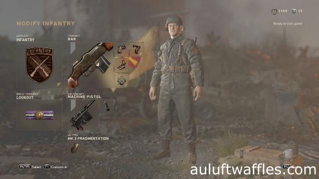Bar Soldier Best Class Setup Call of Duty: WW2 Weapon Guide