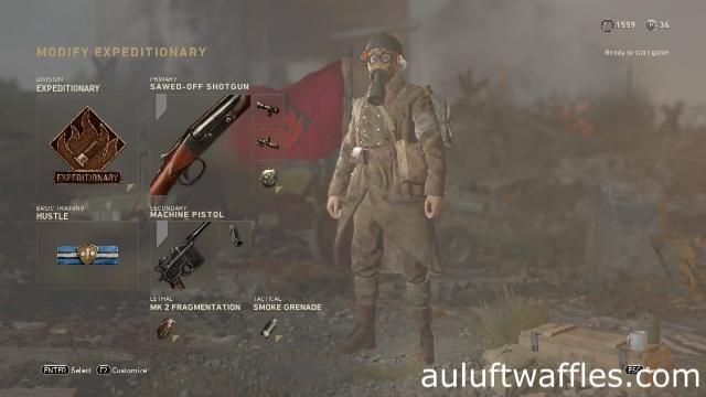 Sawed-Off Shotgun Soldier Best Class Setup Call of Duty: WW2 Weapon Guide