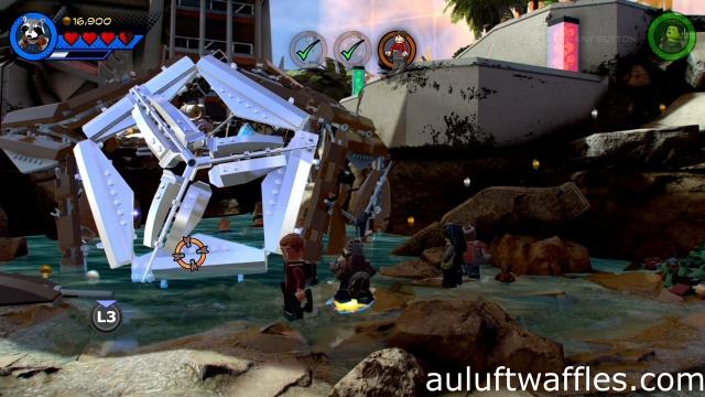 Destroy Reinforced Metal Save Civilians in Cage Level 1 LEGO Marvel Super Heroes 2