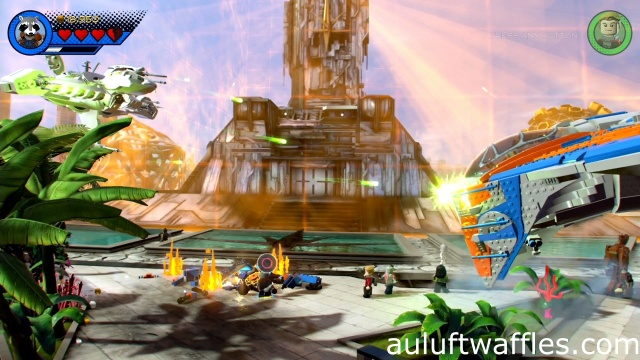 Destroy Ship attacking Your Ship Level 1 LEGO Marvel Super Heroes 2