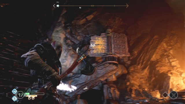 Use the turning panel to seperate the spikes to free the chain Inside the Mountain The Journey God of War: Ascension