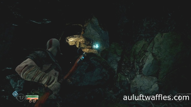 The third vase of the nornir chest in The River Pass in God of War: Ascension.