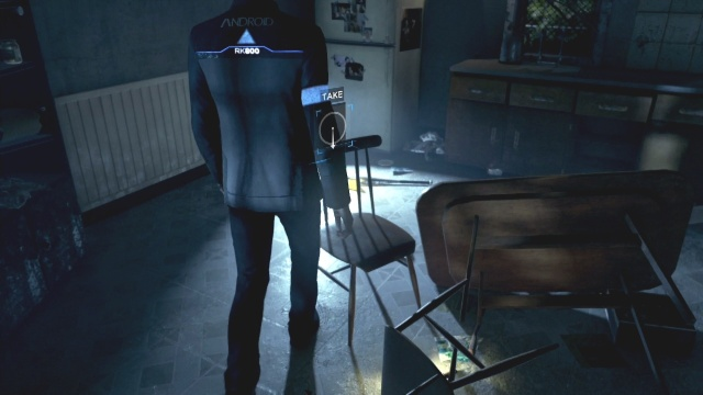 Pickup the chair in the kitchen to find something to climb to find the Deviant in Partners in Detroit: Become Human.