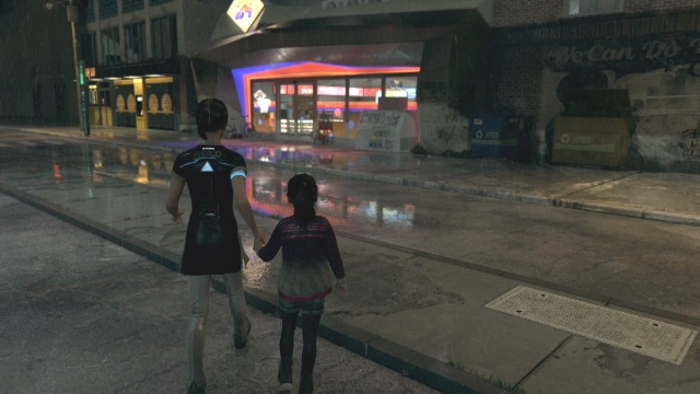 To find $40 go over to the supermarket to find shelter for the night in fugitives in Detroit: Become Human.