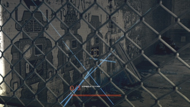 The location of the symbol to to follow the trail to Jericho in Jericho in Detroit: Become Human.