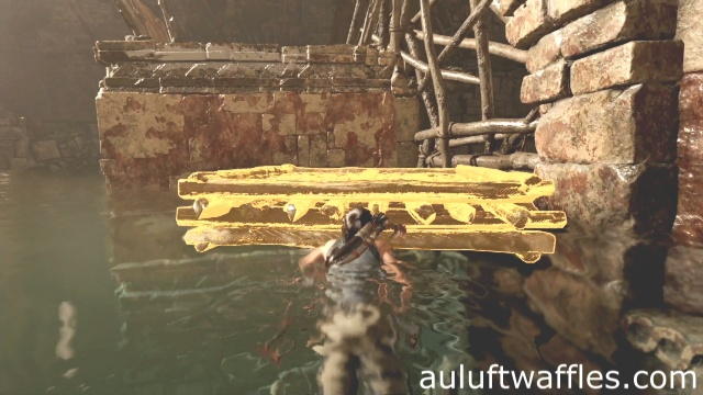Climb the freed raft near the ledge to complete the thirsty gods tomb in Mission of the San Juan in Shadow of the Tomb Raider