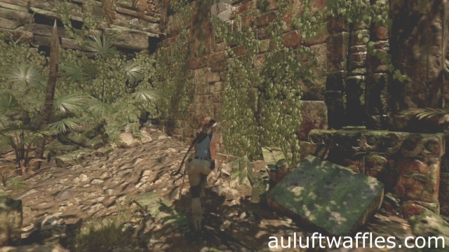 Climb up to the weight on the left to complete the Judge's Gaze Tomb in the Peruvian Jungle in Shadow of the Tomb Raider