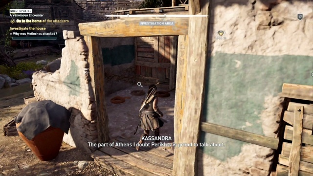 Kill and investigate the snakes to investigate the house in a venomous encounter in Attika in Assassin's Creed Odyssey