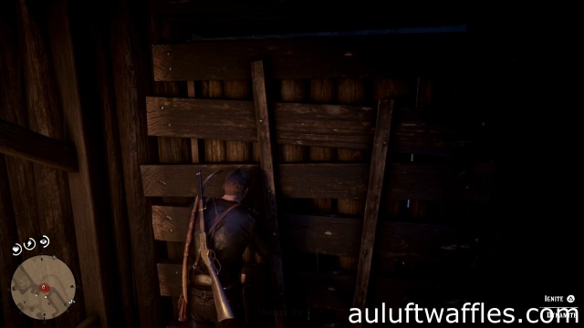 Plant dynamite on the wall to destroy the wall in The King's Son for Charles in Red Dead Redemption 2
