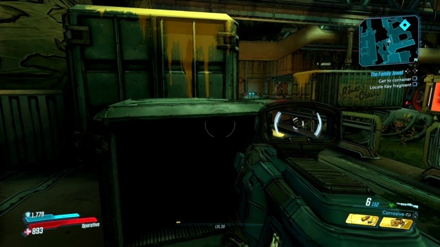 Climb up the boxes to get to the container in The Family Jewel in Voracious Canopy in Borderlands 3