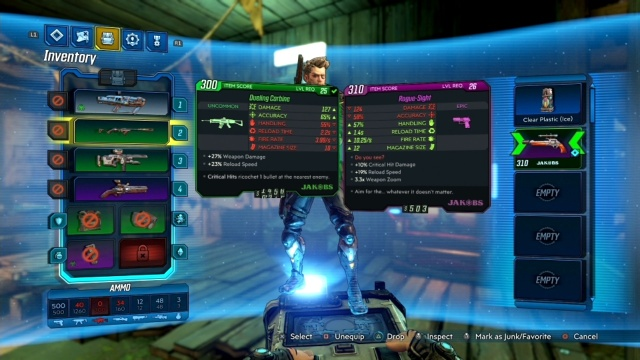 Equip the Rogue-Shot to shoot Rogue-Sight marks in Going Rogue for Clay in Floodmore Basin in Borderlands 3