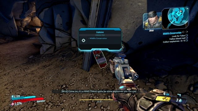 Collect explosives in Wildlife Conservation for Brick in Konrad's Hold in Borderlands 3