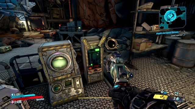 Use the switch to load the reactor in Angels and Speed Demons for Tannis in Konrad's Hold in Borderlands 3