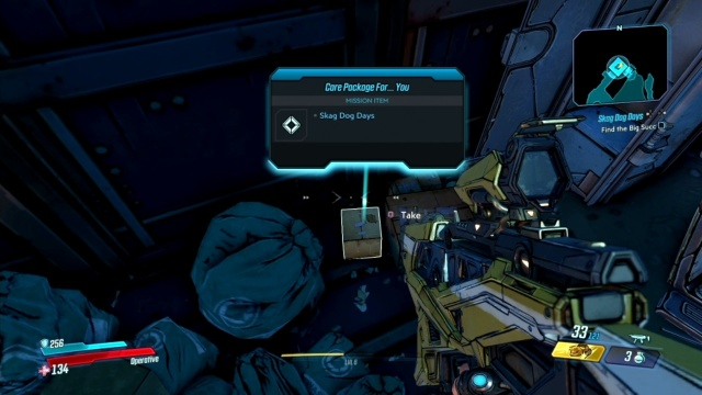 Go into the container to Find the Big Succ in Skag Dog Days for Voughn in The Droughts in Borderlands 3