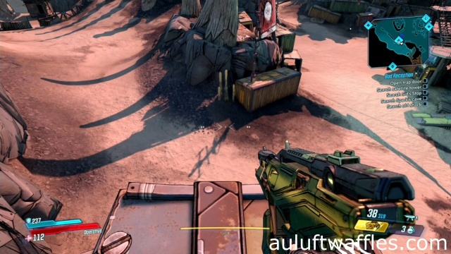 Jump off and Crouch to Open the Trap Door in Bad Reception in The Droughts for Claptrap in Borderlands 3