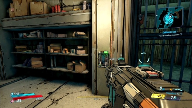 Open the door to find a vending machine in Childhood's End for Tannis in Konrad's Hold in Borderlands 3