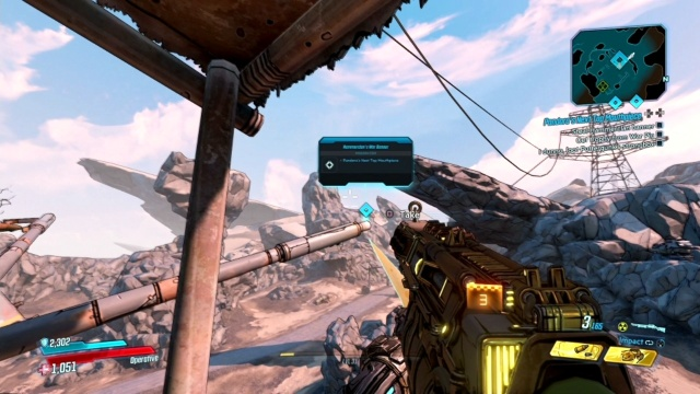 Steel the Hammerclan Banner in Pandora's Next Top Mouthpiece for Ellie in Ascension Bluff in Borderlands 3