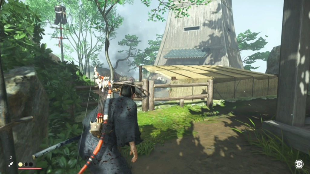 Keep going to the right in front of the house to Disable the Alarm in the Lighthouse The Tale of Ryuzo Ghost of Tsushima