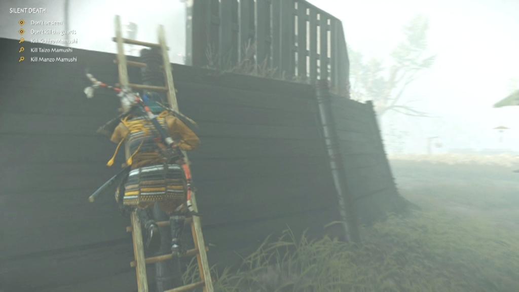 Climb the ladder to Kill Kichizo, Taizo and Manzo Mamushi Silent Death Ghost of Tsushima