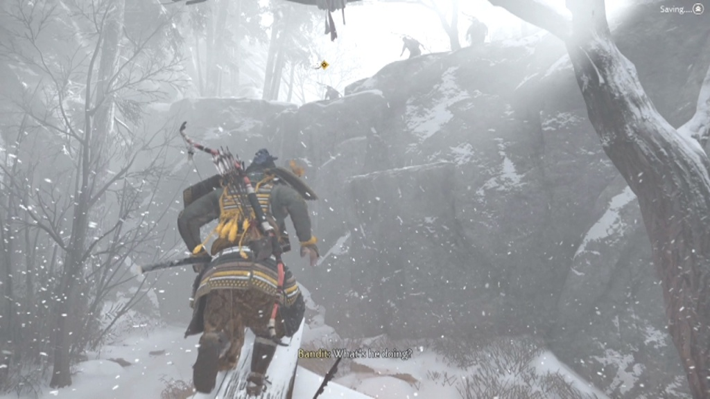 Climb onto the roof to Climb the Cliff into Fort Kaminodake Wolves at the Gates Ghost of Tsushima