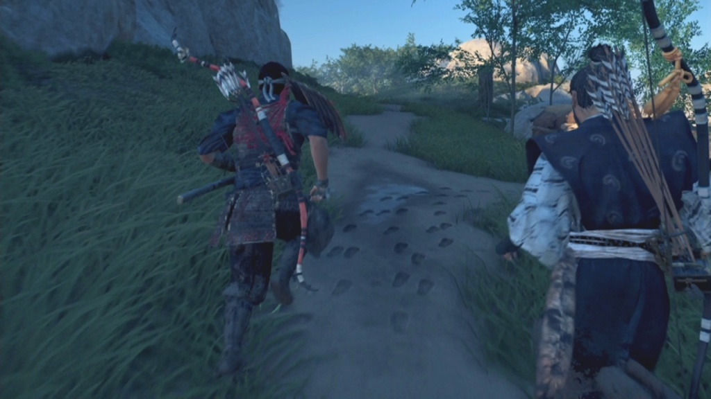 Turn right to follow the Mongols' Trail in The Sensei and the Student in Ghost of Tsushima