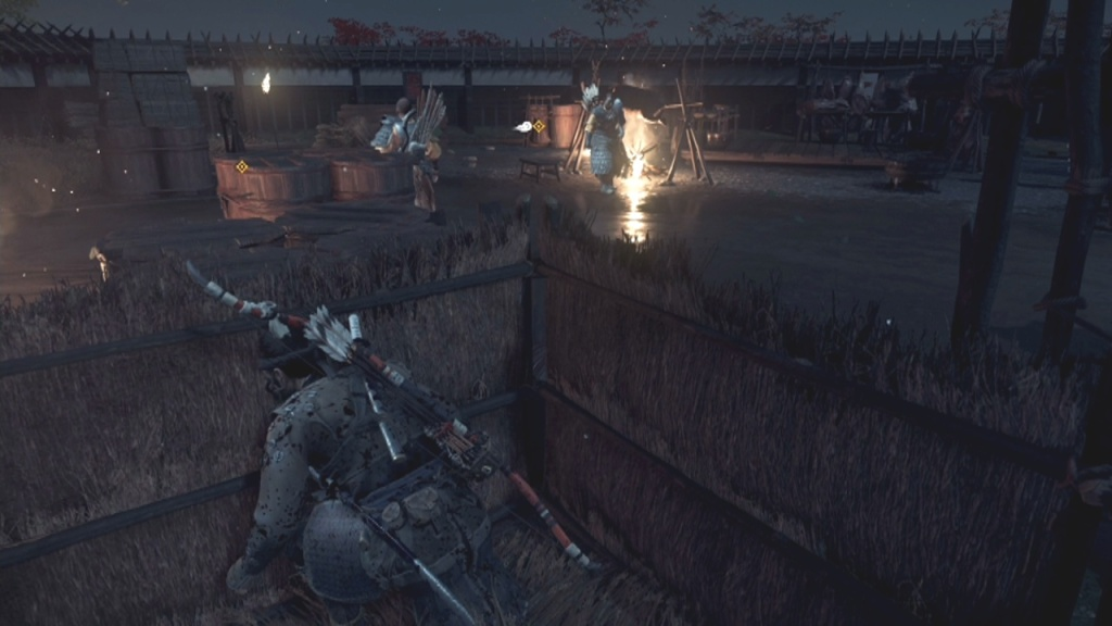 Wait for the guard to walk away to Poison the Mongols' Fermented Milk Without Rasing the Alarm From the Darkness Ghost of Tsushima