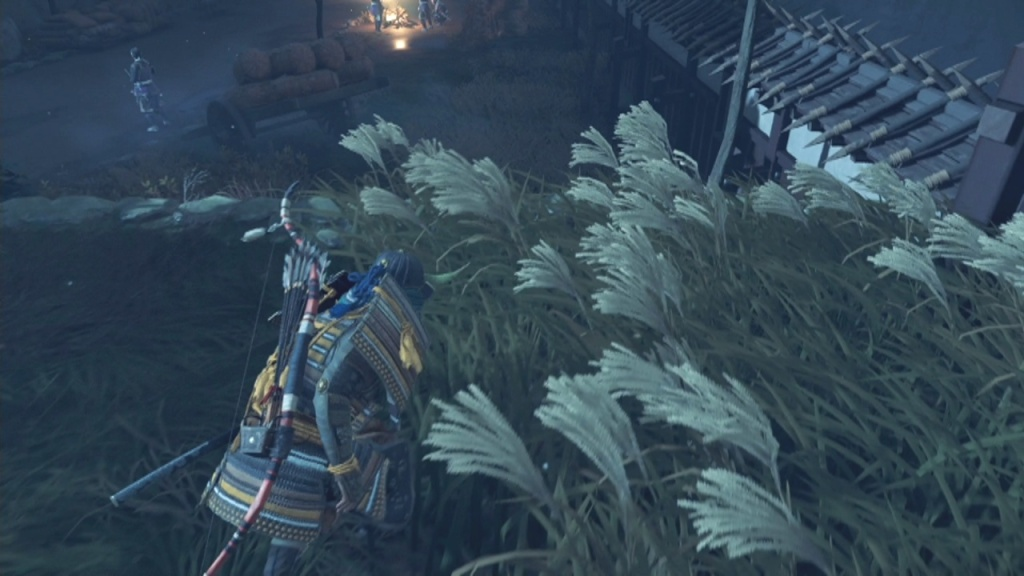 Drop down into the garden to Sneak into Lord Shimura's Quarters Heart of the Jito Ghost of Tsushima