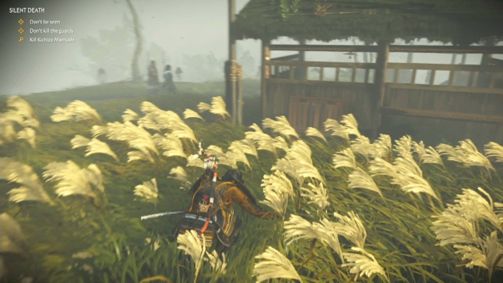 Go around the stables to Kill Kichizo, Taizo and Manzo Mamushi Silent Death Ghost of Tsushima