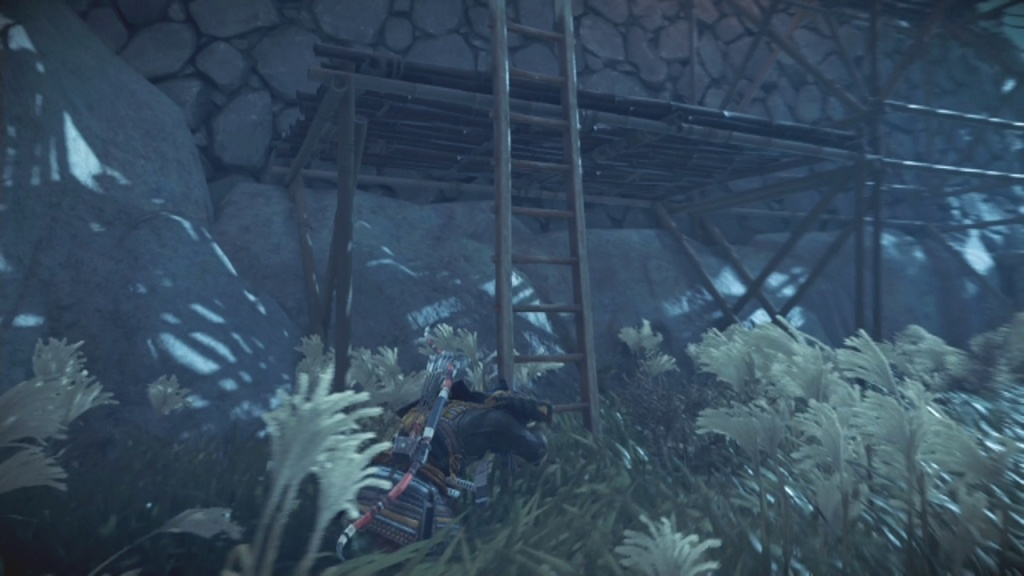 Climb the ladder into the castle to Sneak into Lord Shimura's Quarters Heart of the Jito Ghost of Tsushima